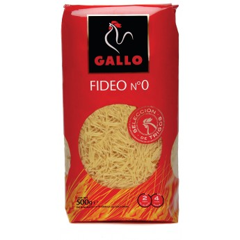 "FIDEO 0 ""GALLO"" 500 GRS."