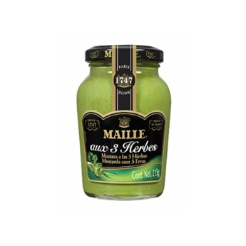 "MOSTAZA ""MAILLE"" 3 HIERBAS 215 GRS."